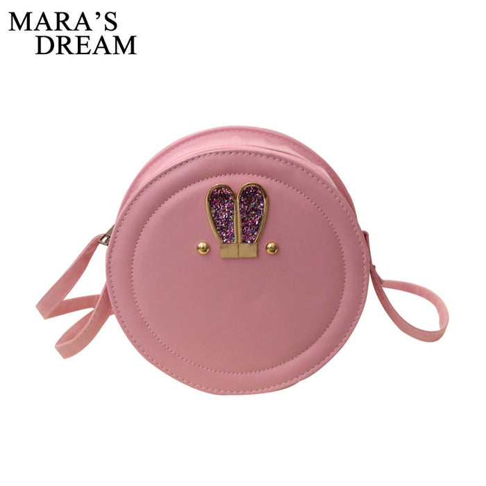 Mara's Dream Round Women Bag Rabbit Ears Crossbody Bags For Women Ladies Cute Shoulder Bag Circular Girls Messenger Bags Summer