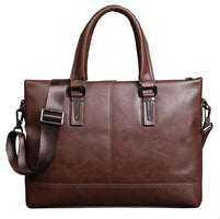 Men/Women 15.3 inch Casual Briefcase Business Shoulder Bag Leather Messenger Bags Computer Laptop Handbag Daily Bags