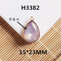 Metal Rhinestone Charms Colorful Water Drop Crystal Pendants For Jewelry Making Diy Earrings Necklace Jewelry Accessories