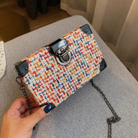 Mini Wool Crossbody Bags For Women Box Shoulder Messenger Bag Lady Chain Fall Handbags Party Clutch Female Lock Handbags
