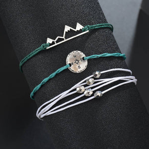 MissCyCy Bohemia Mountain Rope Chain Bracelet For Women Vintage Handmade Volcanic Compass Bracelets Pulseras Mujer Jewelry Gifts