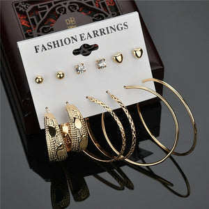 Modyle 2019 New Fashion 12 pairs/set White Simulated Pearl Stud Earrings For Women Jewelry Accessories