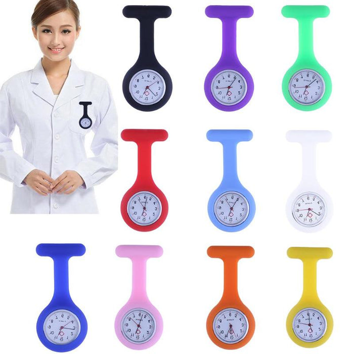 Multi Nurses Watches Doctor Fob Watch Brooches Silicone Tunic Batteries Medical Nurse Women Watches Quartz with Clip relogio