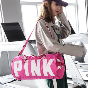 Multicolor Fashion PINK Travel Sport Gym Bag Waterproof Fitness Training Yoga Shoulder Handbag Outdoor Training High Capacity