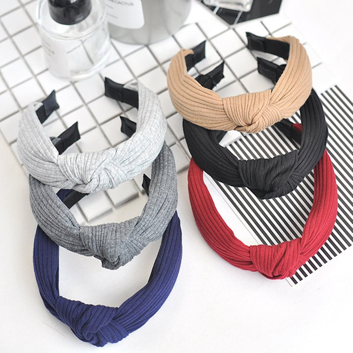 Multicolor Fashion trend knot head hoop women girls hair band headbands