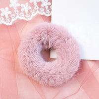 NEW Arrivals Winter Elastic Hair Rubber Band Hair Tiara Adult Simple Solid Color Soft Plush Hair Band for Women Hair Accessories