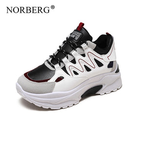 NORBERG Spring Autumn Fashion Ladies Casual Shoes For  Ladies' hiking shoes Breathable Wild Platform Women Shoes Sneakers Women