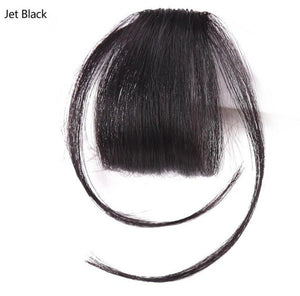 Neat Front False Fringe Clip In Bangs Hairpiece With High Temperature Synthetic Hair Golden Beauty