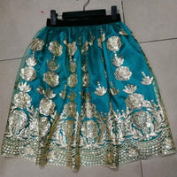 Ladies Embroideried Floral Sequins High Waist Skirts Women
