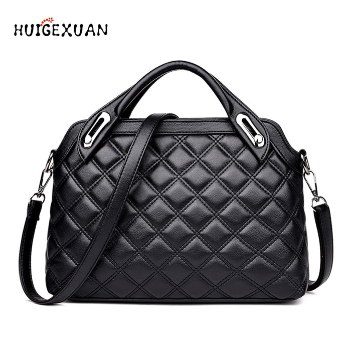 New 2019 Women's Handbag Luxury Handbag Women Bags Designer Quilted Crossbody Bag High Quality PU Leather Female Casual Handbags
