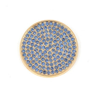 New Arrival Deluxe Disc Coin with Blue Full Crystal for My Coin Holder Pendant Necklace 5pcs/lot