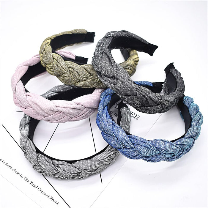 New Arrival Fashion Solid Twist Knotted Hairband Hair Hoop Headband