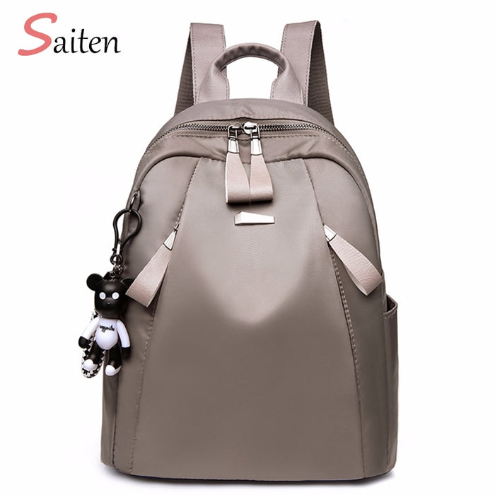 New Bag Waterproof Oxford Women Backpack Zipper School Bags For Teenagers Girls Small Backpack Female Rucksack Mochilas Feminina