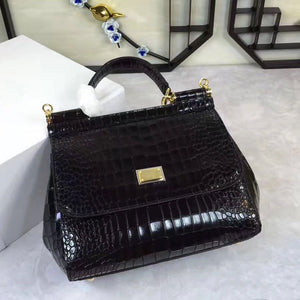 New European and American fashion crocodile pattern lady bag of 2019 single shoulder straddle lady bag