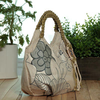 New Fashion Appliques Women Travel bags!Nice Floral Prited Lady casual Shoulder&Handbags Versatile National Tassel Small Carrier