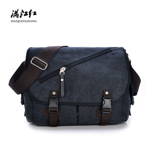 New Fashion Canvas Men Male Shoulder Bag Vintage Retro Men's Messenger Laptop Bag Casual Crossbody Bags For Women Satchel 1079