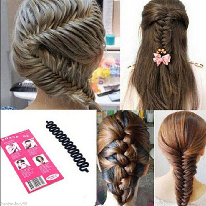 New Fashion Design Female Hair Styling Clip Stick Bun Maker Braid Tool Hair Beauty Make Up Accessories For Women Lady