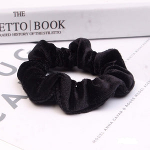 New Fashion Luxury Soft Feel Velvet Hair Scrunchie Ponytail Donut Grip Loop