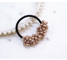 New Fashion Pearls Bead Elastic Rubber Bands Women Girl Sweet Hair Rope Scrunchy Ponytail Jewelry Headress Hair Accessories