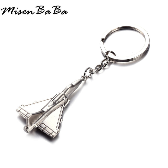 New Fashion Plane Key chain For Woman Men WarPlane Key Ring Key Holder Gift Jewelry Wholesale Metal Keychains party gift jewelry