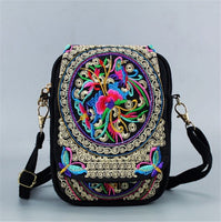 Embroidered Women Chinese Style Shoulder Bag Messenger Crossbody Bag Lady's Purse Bag