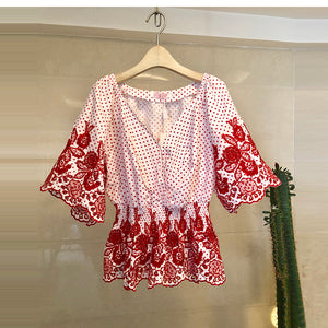 Tops and Blouses Blusas Mujer De Moda Three-dimensional Flower