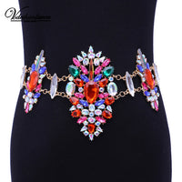 New Sexy Design Luxury Crystal Body Chain Fashion Maxi Waist Chain Statement Jewelry For Women  Statement Necklace body jewelry