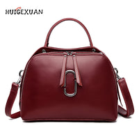 New Summer Fashion Women Bag Cow Leather Handbag Shoulder Bag High Quality Double Zipper Crossbody Bags for Women Messenger Bags