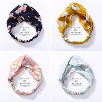New Top Knot Turban Headband Floral Elastic Hairband Head Hoop Striped Hair Accessories for Women Girl Twisted Knotted Head Wrap