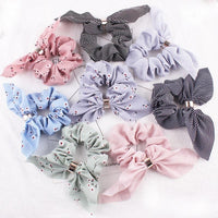 New Women Fashion Beauty Handbands Floral Big Women's Chiffon Bow
