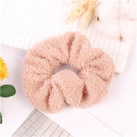 New arrival Fashion women cute soft Teddy velvet Hair bands winte