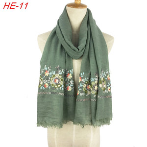 cotton paisley women scarf wrap shawl embroidered scarf for women and girl scarves