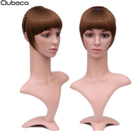 Oubeca Synthetic Braids Headband Blunt Bangs Hairpiece Hairband Fake Neat Straight Fringes With Flecos Clip In Hair Extensions