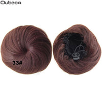 Oubeca Synthetic Drawstring Hair Bun Straight Short Hair Buns Dount Chignon Hairpiece Updo Cover Ponytail Extensions For Women