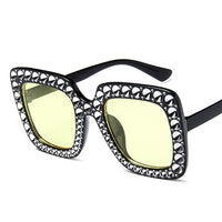 Oversize sunglasses Top Rhinestone Luxury Brand Designer Sunglasses for Women