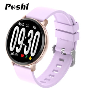 POSHI Women's Smart Watch Luxury Electronic Smart Band Find The Phone Blood Pressure Monitor Smartwatch For Women Android IOS