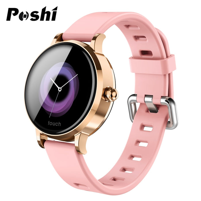 POSHI Women's Smart Watch Luxury Men Smart Band Blood Pressure Monitor Electronic
