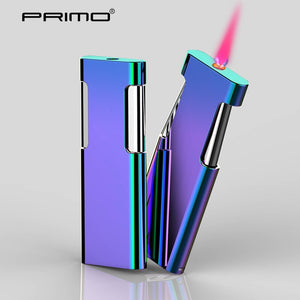 PRIMO metal windproof inflatable lighter creative slim personality birthday gift lighter for men and women
