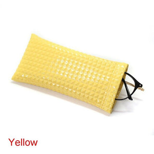 PU Leather Eyewear Pouch Cases Fashion Cute Korean Style Scratch-proof Sunglasses Bag Protector Eyewear Container Bag