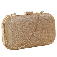 PU leather Women's mini evening bag fashion clutch banquet bag girls shoulder bag Messenger bag, Gold