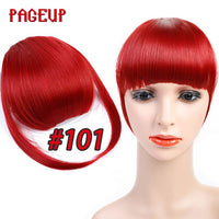Pageup 6 Colors Synthetic Natural Front Bangs Hair pieces Clip In Fake Bangs For Women Clip In Hair Extensions Short Front Bangs