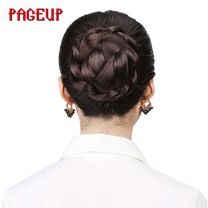 Pageup Small Size Knitted Hair Braided Chignon Synthetic Hair Bun Donut Roller Hairpieces Hair Haar Accessories