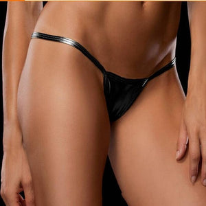 Leather Underwear G-string T-back Panties Briefs Women Sexy Lingerie Underwear