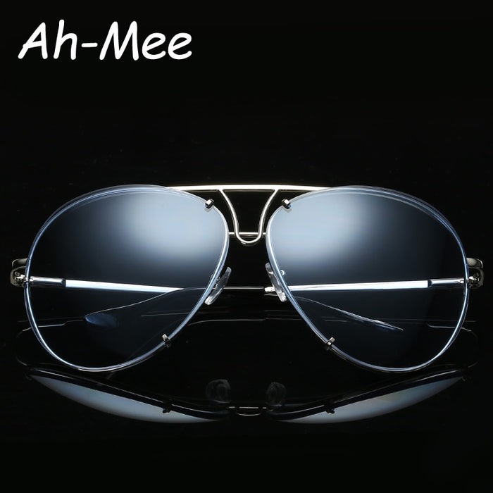 Pilot Sunglasses Men brand designer Mirrored Gradiet Oversized Women Man Sun glasses