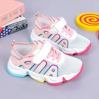 ULKNN Girls Sneakers 2020 Summer New Kid's Breathable Mesh Children's Shoes