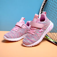 s double net breathable big kids students pink wild children's shoes casual