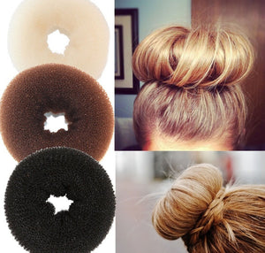 Plate Hair Donut Hair Bun Maker Roller DIY Magic Elastic Foam Sponge Hair Styling Tools Princess Hair Accessories Updo