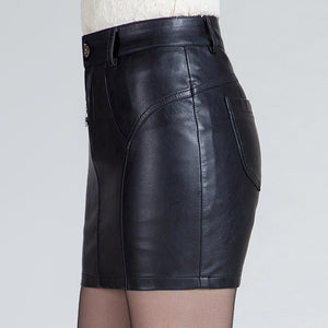 Plus Size 4XL Women Black PU Leather Tight Sexy Bodycon Mini Leather Skirt Short Pencil Skirts Clubwear