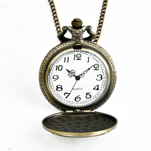 Pocket Watch Fire Fighter Pattern Full Hunter Bronze Quartz Watches Antique Unique Firefighter Men Women Gift