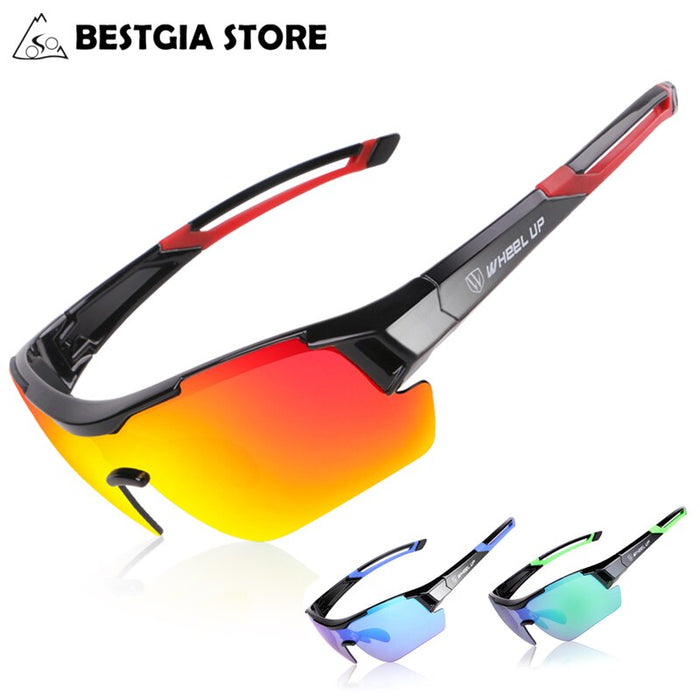 Polarized Cycling Sun Glasses Outdoor Sports MTB Mountain Bicycle Glasses Men Women Bike UV400 Sunglasses Goggles Eyewear 3 Lens